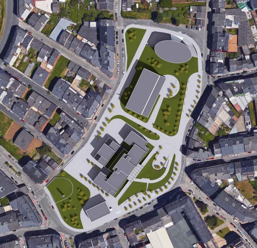 Urbanización Barrio da Residencia. Lugo